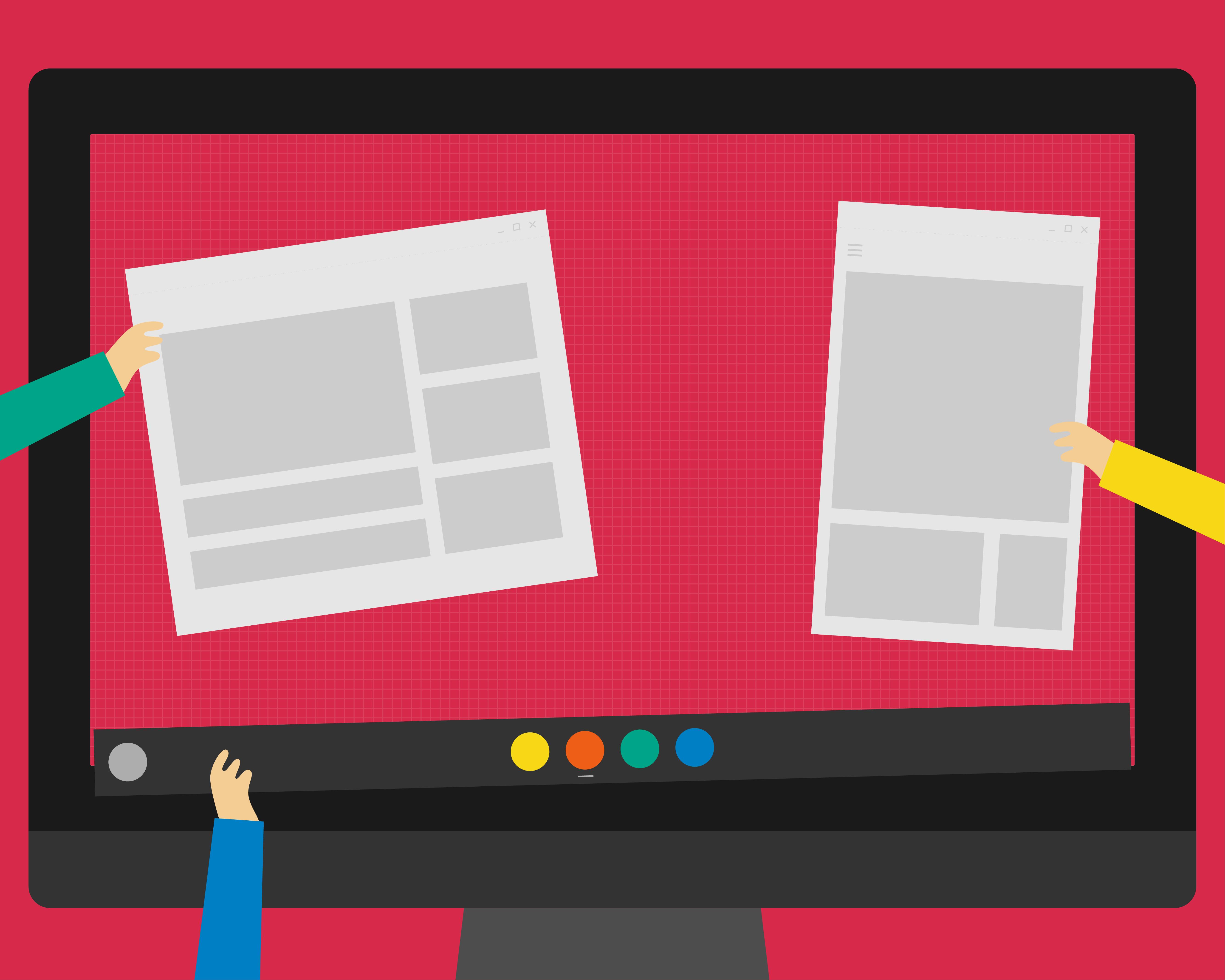 Bespoke designed hiring illustration for FydeOS
